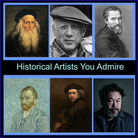 Historical Artists You Admire_theartcrafttherapyroom