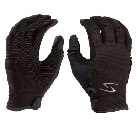 SERFAS GLOVES GAUNTLET Full Fingers - black