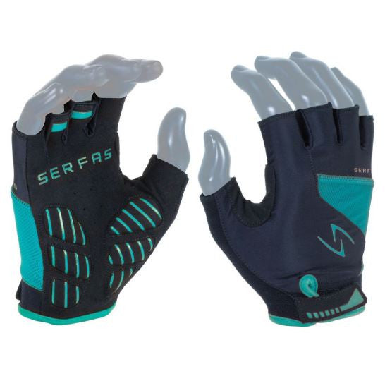 SERFAS GLOVES VIGOR (WOMEN'S) Short Fingers - teal