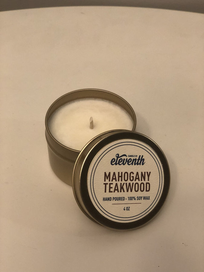 Mahogany Teakwood Candle Eleventh Candle Co.