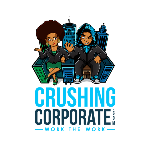 Crushing Corporate logo Sticker