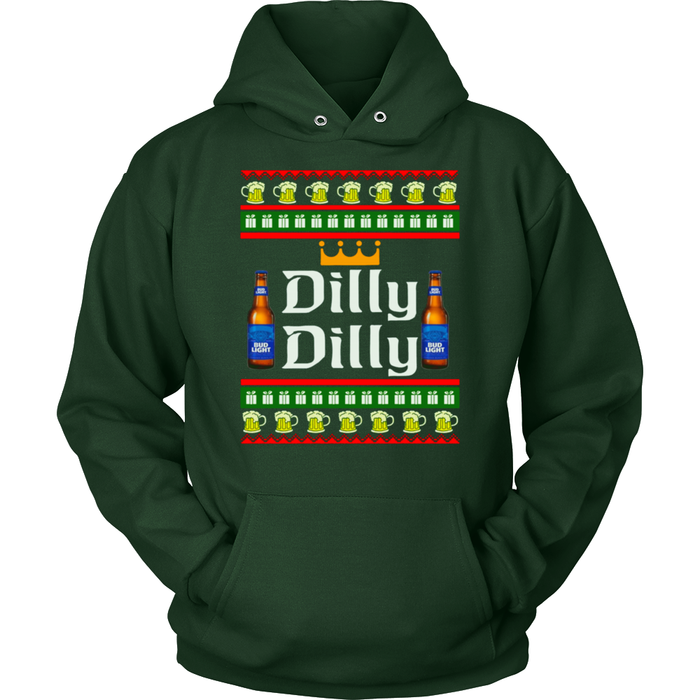dilly dilly bud light ugly christmas sweater dilly dilly beer t shirt funny xmas holidays