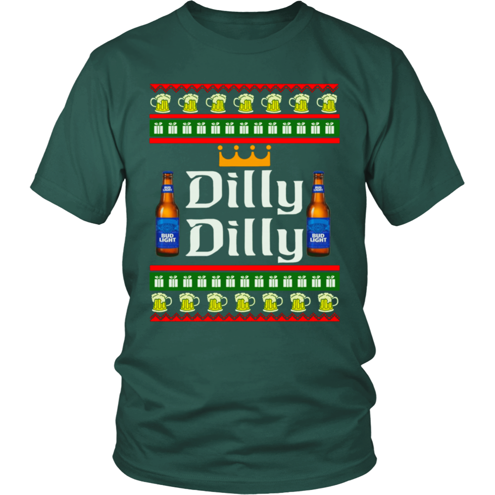 Dilly Dilly Bud Light Ugly Christmas Sweater Dilly Dilly Beer T ...