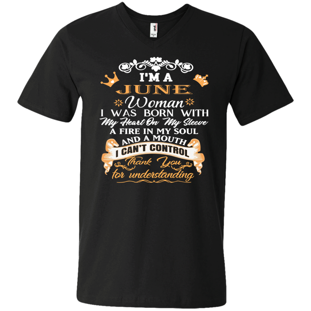 aa068039 ... I'm A June Woman Birthday Shirt Queens Born In June T-Shirt Birthday ...