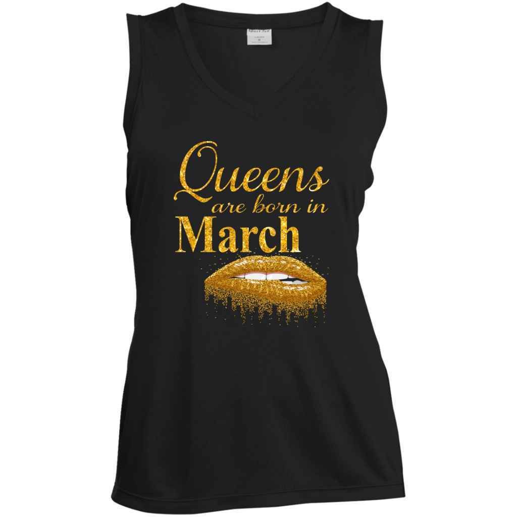 Queens Are Born In March T Shirt Birthday Shirts For Women