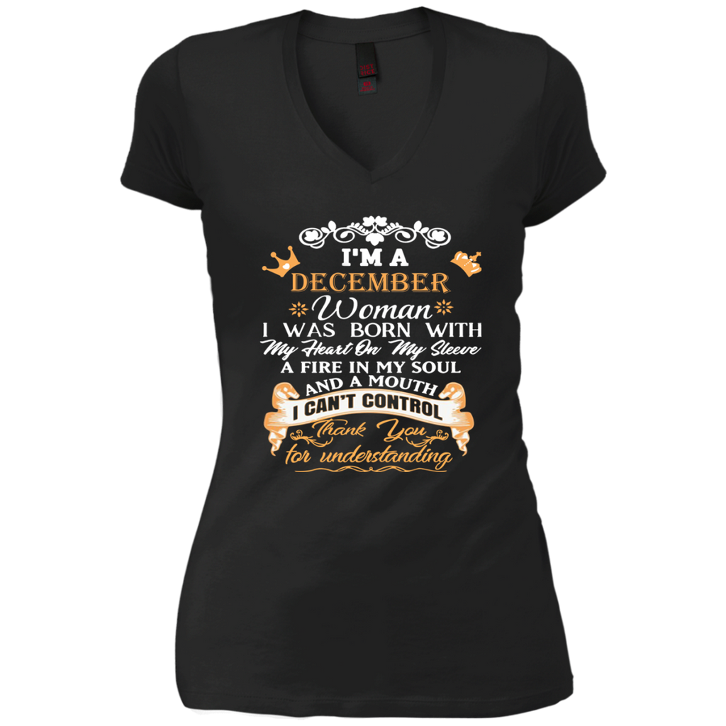 5274b477c87 ... I m A December Woman Birthday Shirt Queens Born In December T-Shirt  Birthday ...