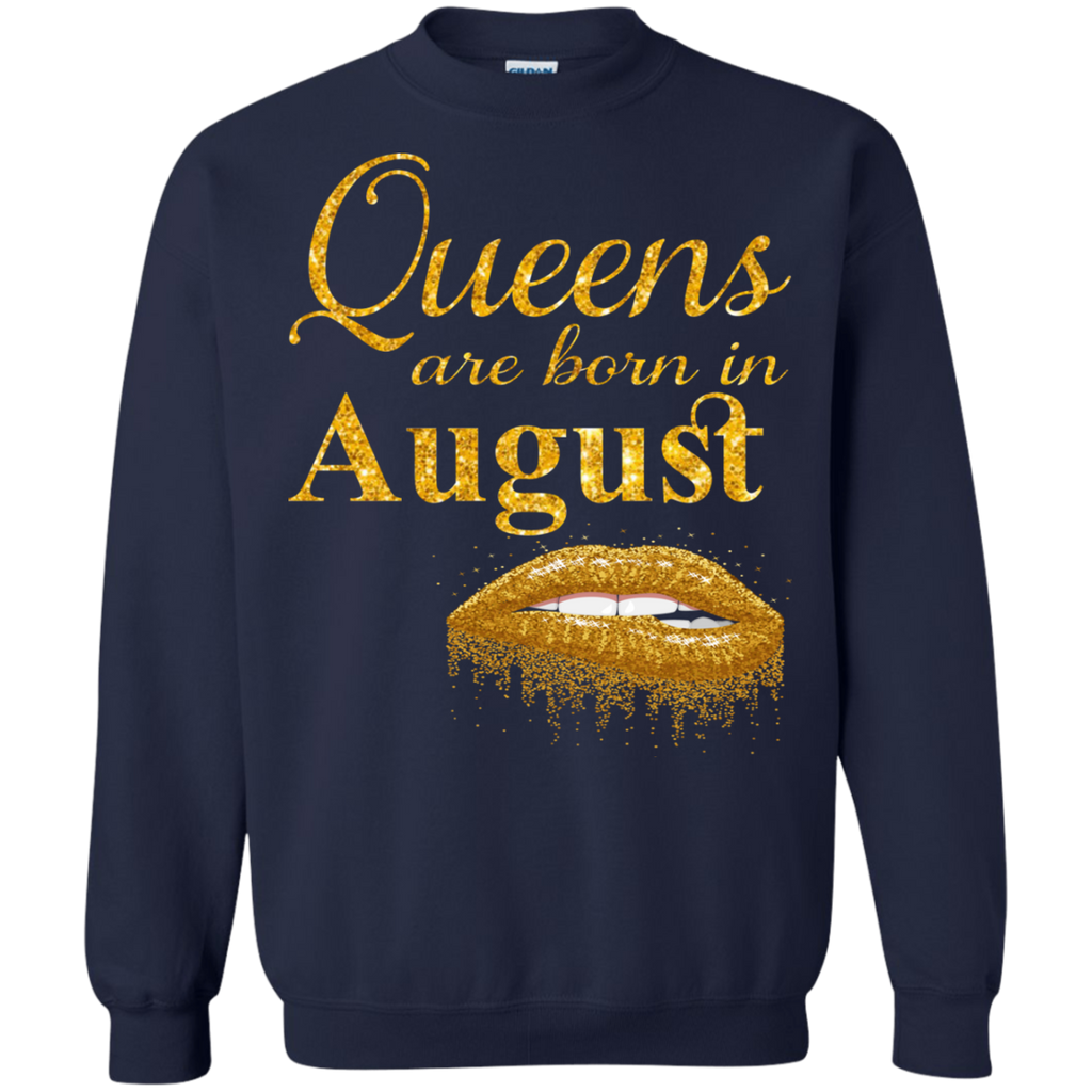 Queens Are Born In August T Shirt Birthday Shirts For Women