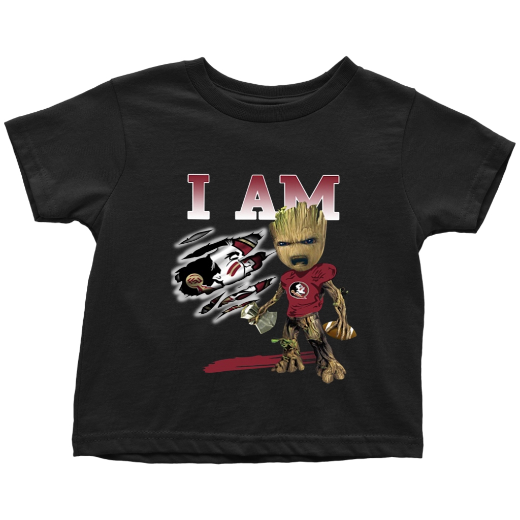 Baby Groot I Am Florida State Seminoles Football T Shirt