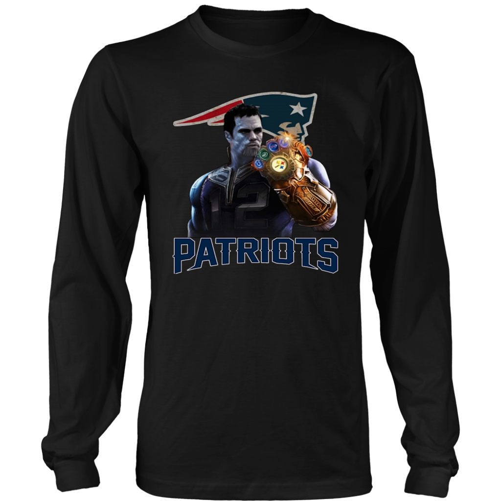 ... Tom Brady  12 Thanos infinity gauntlet Patriots T-Shirt ... 5365e9955