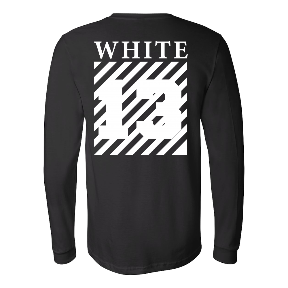 d38722438a97 Off White 13 Shirt (Back Sides) Off White 13 Long Sleeve Hoodie Sweatshirt T