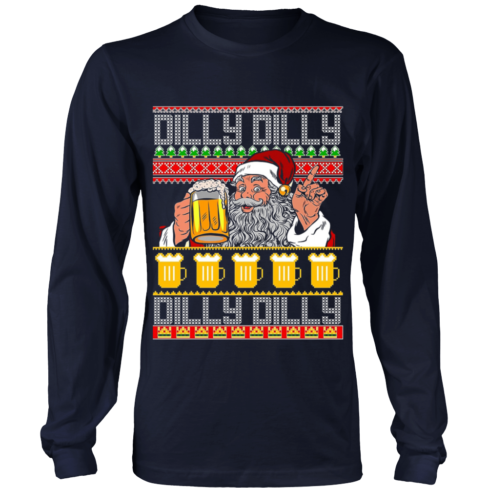 dilly dilly ugly christmas sweater dilly dilly beer t shirt funny xmas holidays gifts