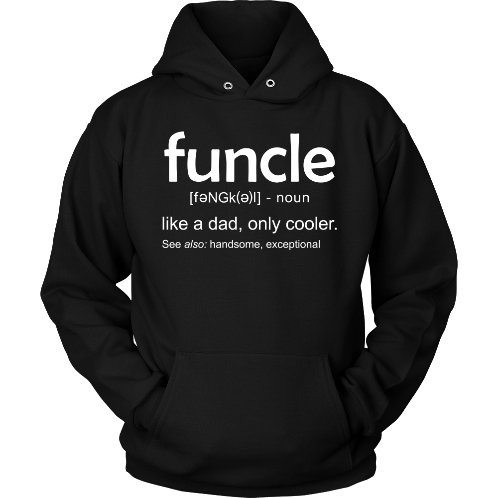 0c2d1e5d ... Funcle Definition T-Shirt Funcle T Shirt Like a Dad Only Cooler Premium  Gift ...