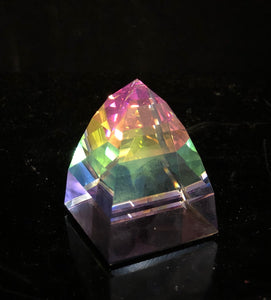 Swarovski Small Pyramid Paperweight Vitrail Light