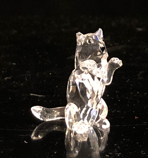 Swarovski Sitting Up Cat