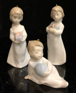 Lladro Christmas Morning Ornaments