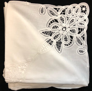Handmade Lace Tablecloth 5-Piece Set