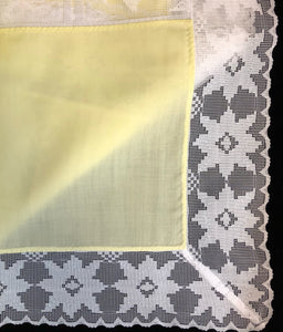 Yellow Army and Navy Easy Care Tablecloth