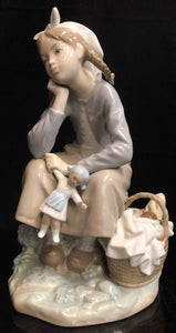 Lladro Girl with Doll