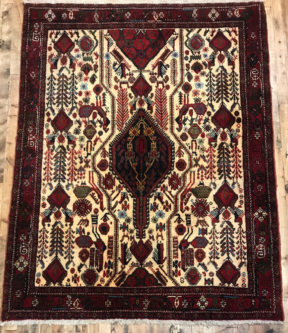 Hand-Knotted Persian Afshar