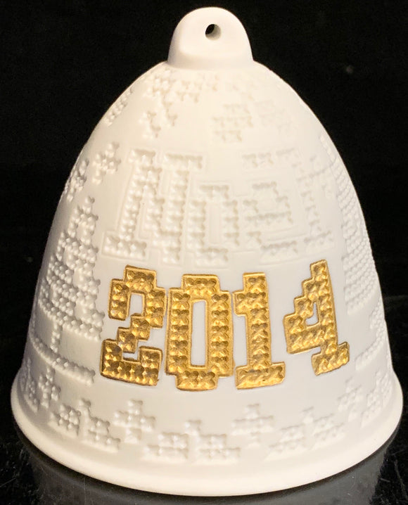 Lladro 2014 Christmas Bell Gold