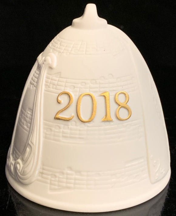 Lladro 2018 Christmas Bell Gold