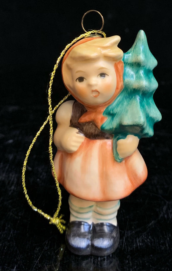 Hummel Girl with Fir Tree Ornament