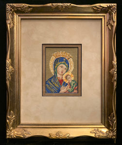 Gobelin Petit Point Madonna and Child