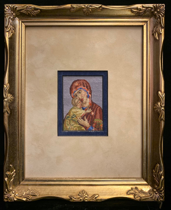 Gobelin Petit Point Madonnna and Christ