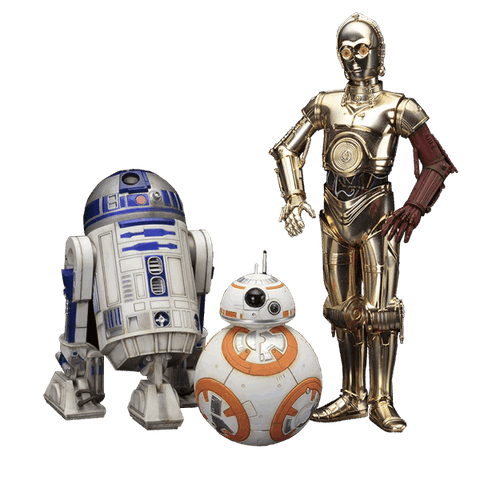 Star Wars R2-D2 & C-3PO with BB-8 ARTFX+ 3 pack Statues