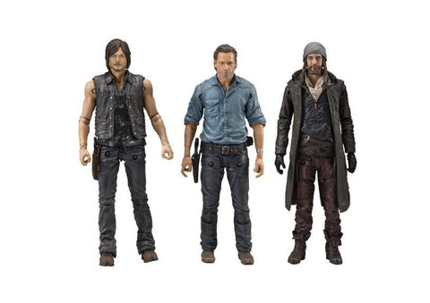 "The Walking Dead Allied 3-Pack 5"" Action Figures - Rick Grimes, Daryl Dixon, Jesus"