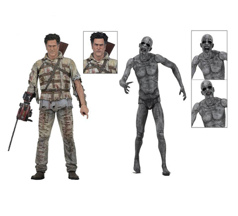 "Ash vs Evil Dead 7"" Action Figure Series 2 - 2pck Ash, Demon Spawn"
