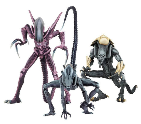 Alien vs Predator Action Figure - 3 pack set Alien Arcade Appearance (Pre-Order) - NECA