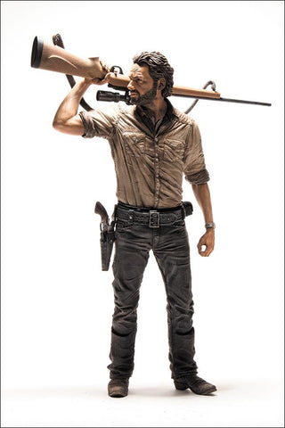 "The Walking Dead Rick Grimes Deluxe 10"" Figure - McFarlane Toys"
