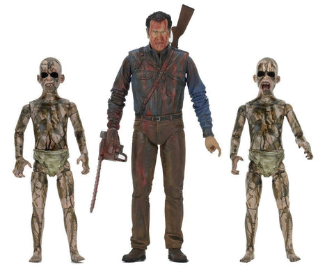 "Ash vs Evil Dead Bloody Ash faces Demon Spawn 7"" Action Figure - 3 pack - NECA"