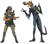 "Aliens Hicks and Alien Xenomorph Deluxe Pack 7"" Action Figures 2pack - NECA"