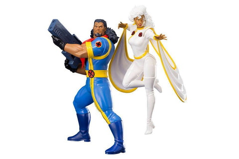 Marvel Universe ARTFX+ Statue 1/10 2-Pack Bishop & Storm (X-Men '92) (Pre-Order)