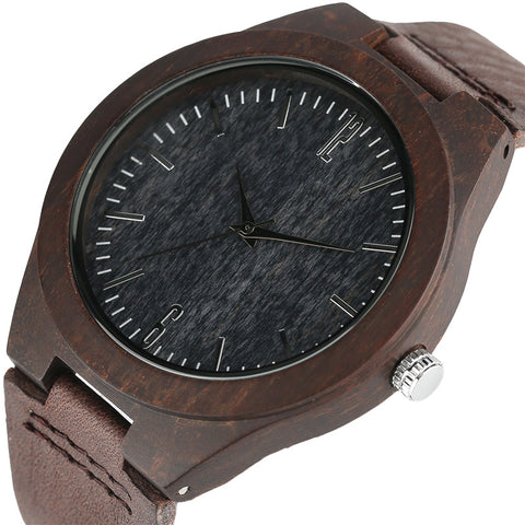 Creative Carbon Black unisex wrist watch