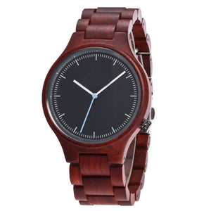 ALK VISION  Designer unisex Wooden Watch Red sandal Wood Quartz Watch