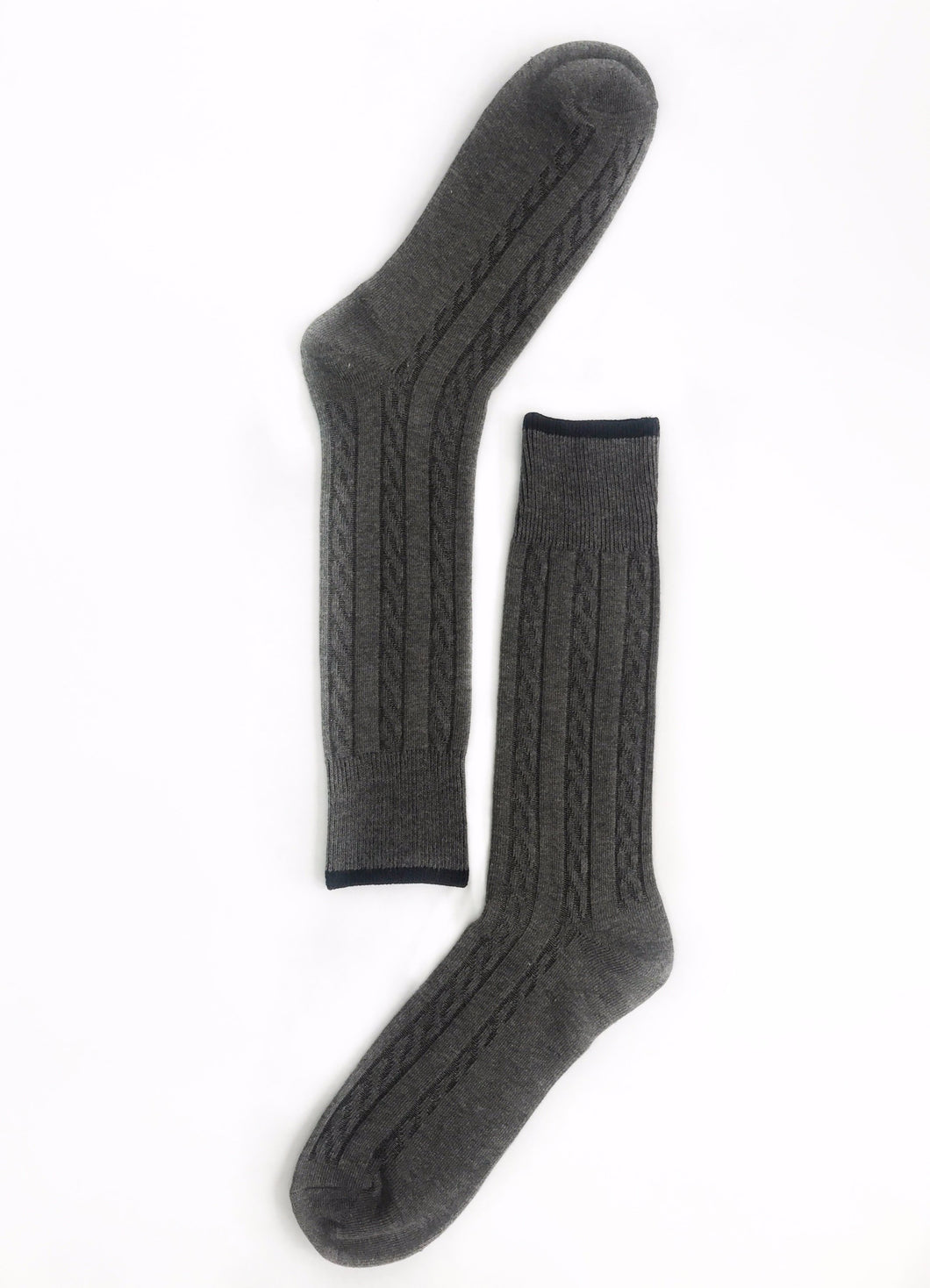 Gray Ribbed Sock