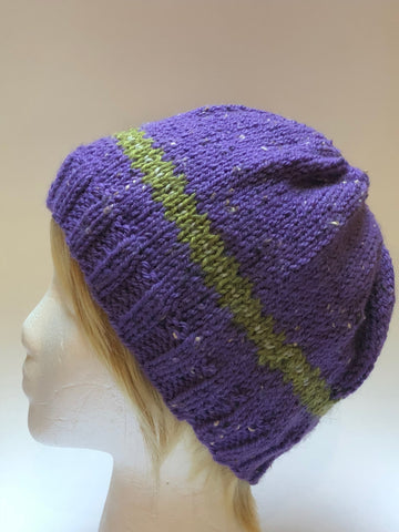 "Hand Knit ""The Purple Hat"""