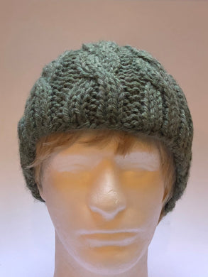 Hand Knit Green Hat