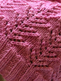 Hand Knit Pink Colored Hat