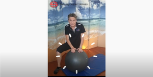 Calming technique using gym ball Occupational Therapist