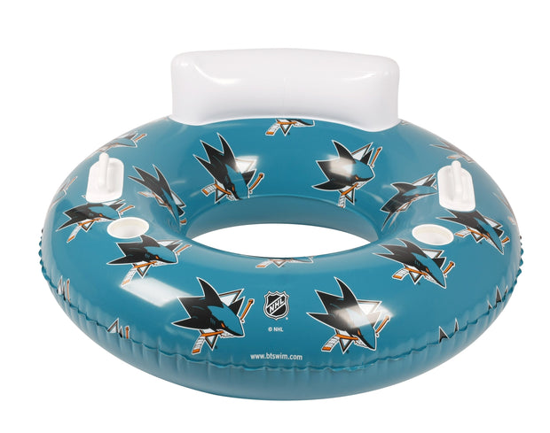 San Jose Sharks 48-inch Inflatable Tube Pool Float