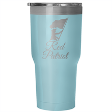 Customized POWDER COATED Red Patriot Tumbler