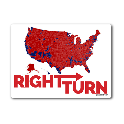 Right Turn Sticker