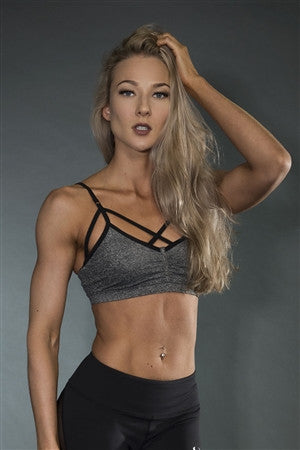 Desire Grey Sports Bra - Violate The Dress Code