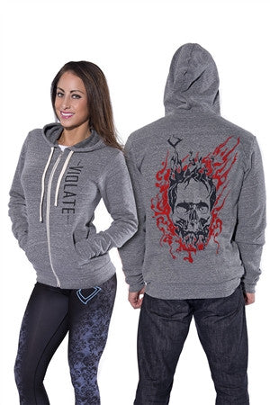 grey, high quality, tri blend unisex hoodie