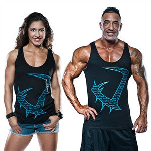Black and blue, blue and green unisex tank