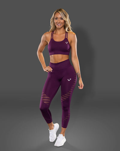 Amore Seamless Grape Jelly Leggings